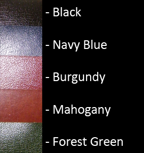 Bonded Leather Colour Palette